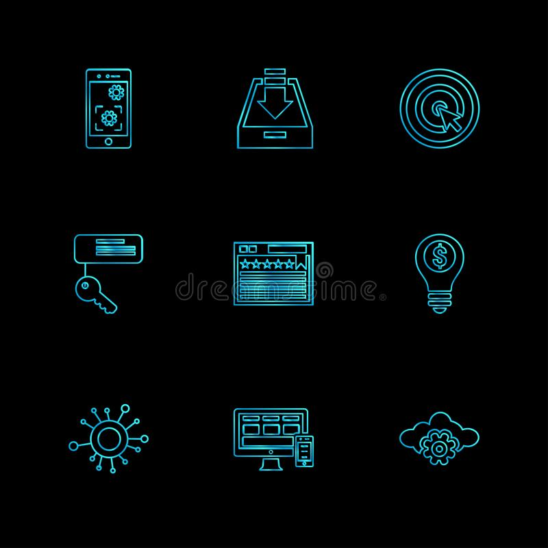 Seo , money , internet , bugs , network , eps icons set vector. Seo , money , internet , bugs , network , sheild, lock , message , note , dollar , monitor vector illustration