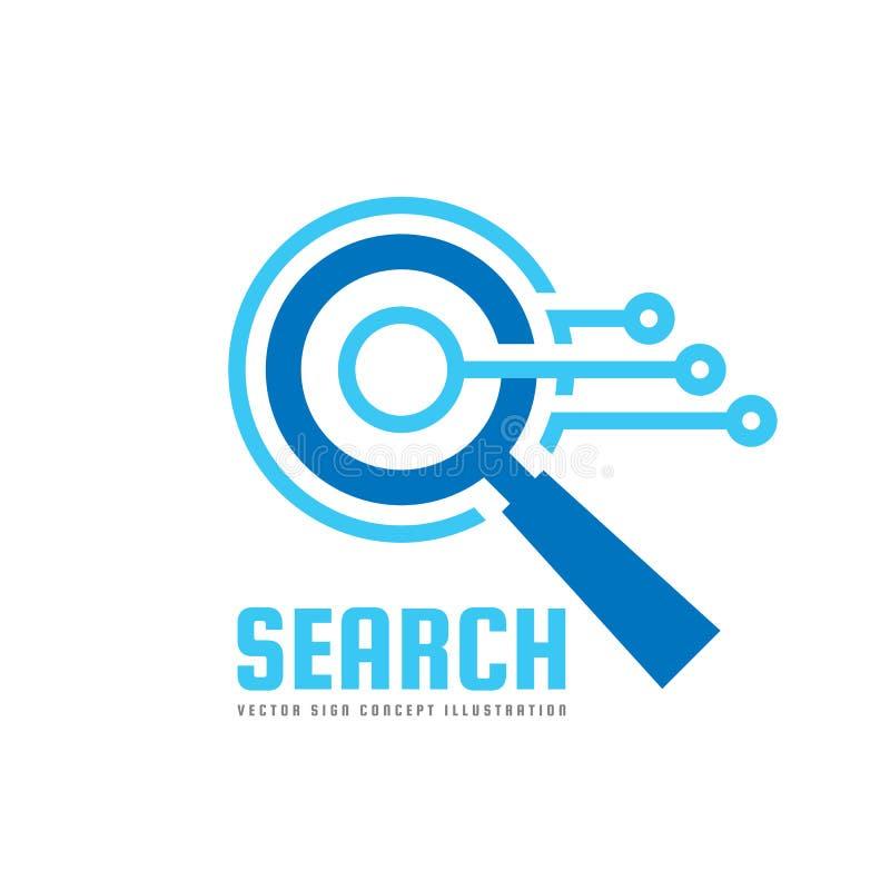 SEO - Optimisation de moteur de recherche - illustration de concept de calibre de logo Signe créatif de technologie électronique  illustration stock