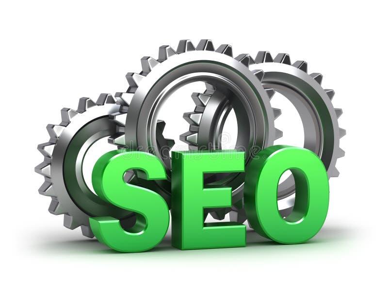 SEO - Optimização do Search Engine ilustração stock