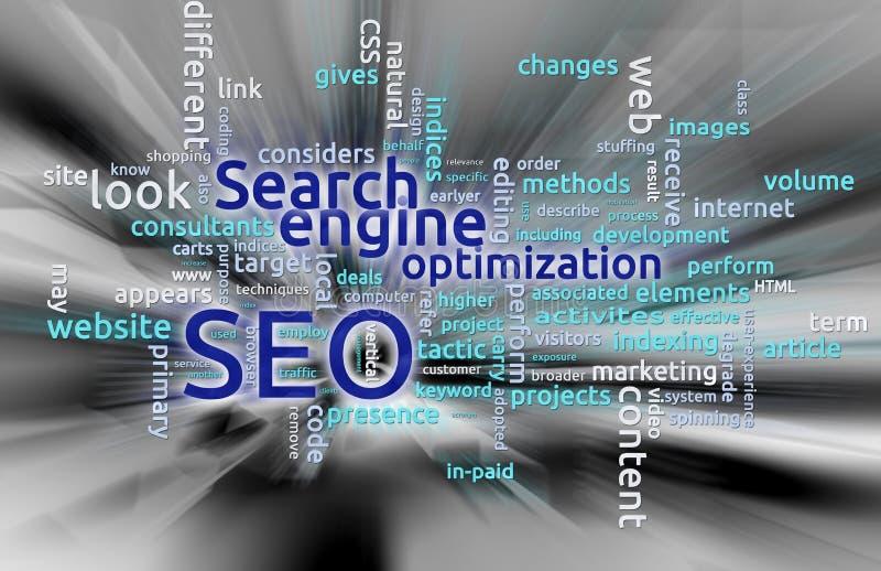 SEO - Optimização do Search Engine ilustração royalty free