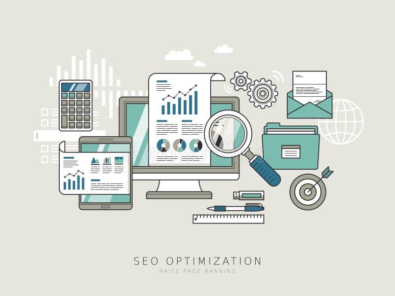 SEO Optimization Concept illustration stock