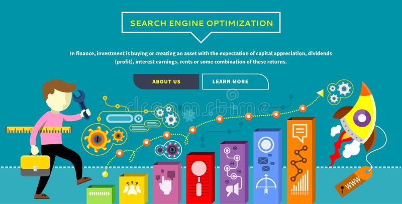SEO Optimization Concept royalty free illustration
