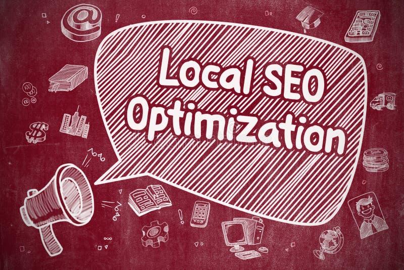 SEO Optimization local - conceito do negócio ilustração stock
