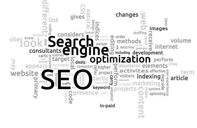 SEO - Ottimizzazione del motore di ricerca illustrazione di stock