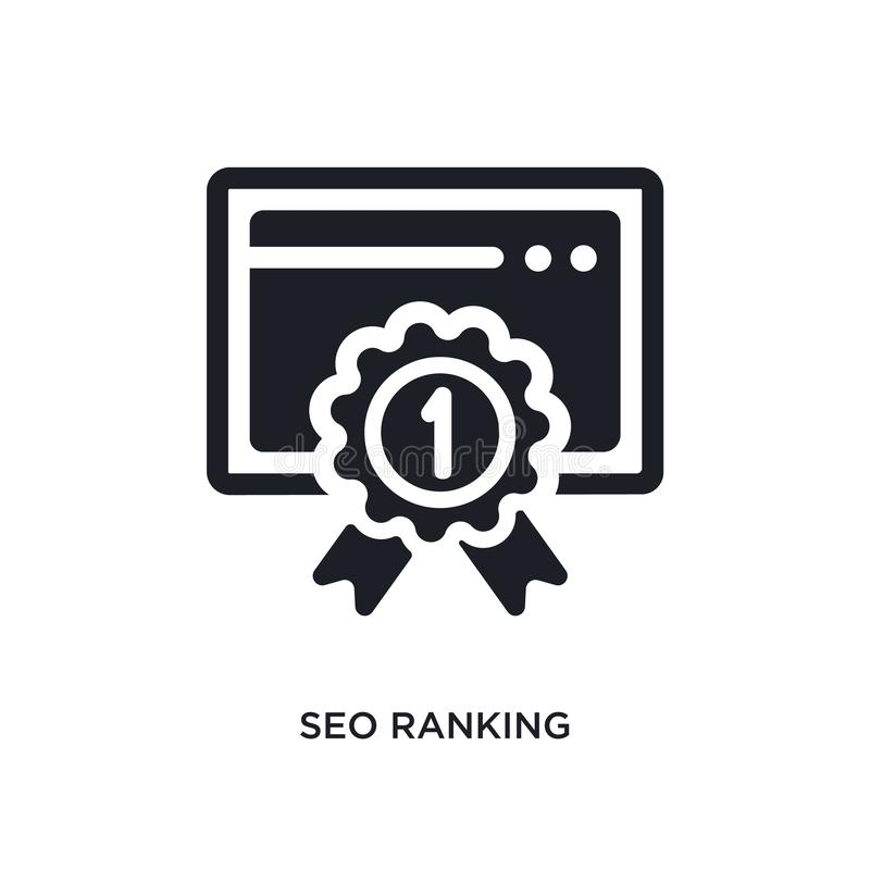 seo ranking isolated icon. simple element illustration from programming concept icons. seo ranking editable logo sign symbol stock illustration