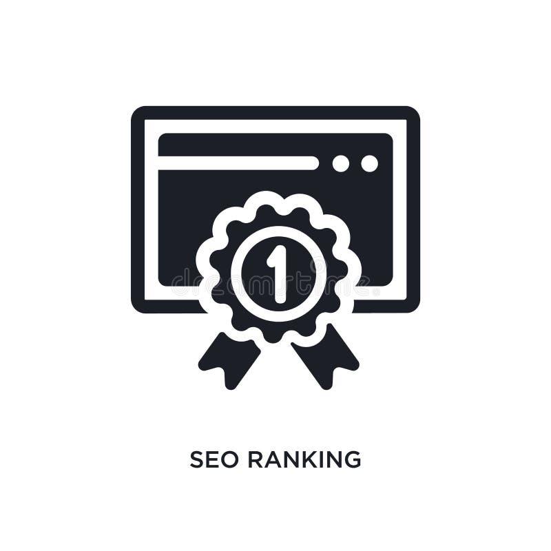 seo rankingu odosobniona ikona prosta element ilustracja od programowania pojęcia ikon seo zalicza się editable logo znaka symbol ilustracji