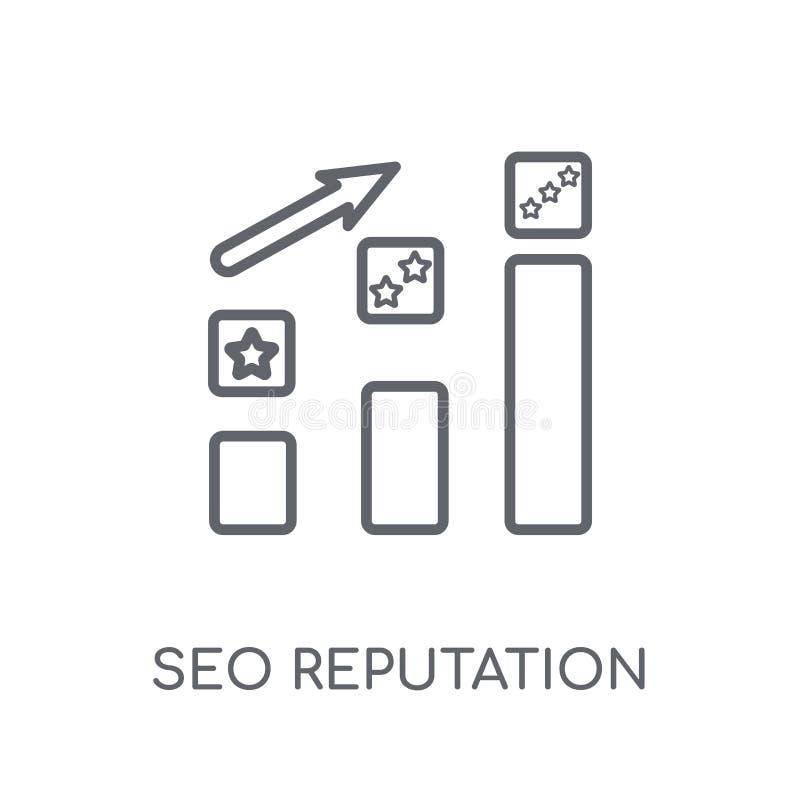 SEO reputacji liniowa ikona Nowożytny konturu SEO reputacji logo c ilustracja wektor