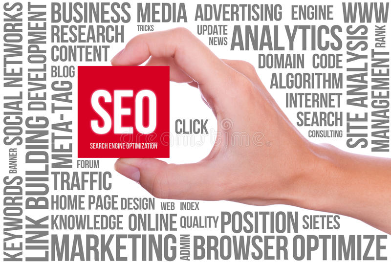 SEO - Search Engine Optimization royalty free stock image