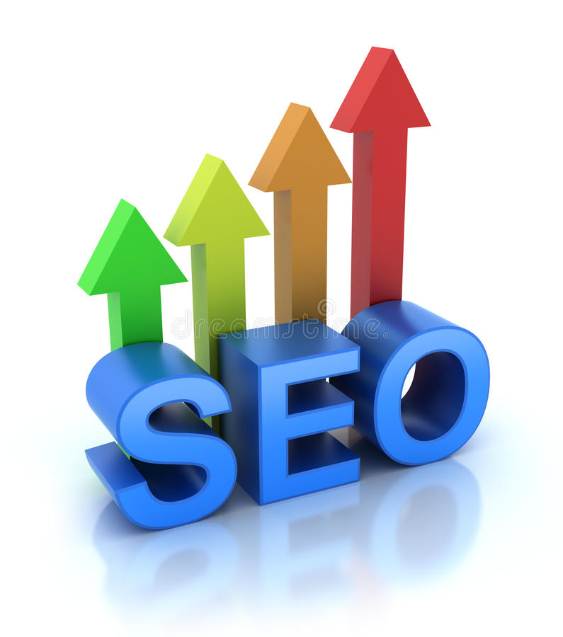 SEO - Search Engine Optimization is growing. 3D render