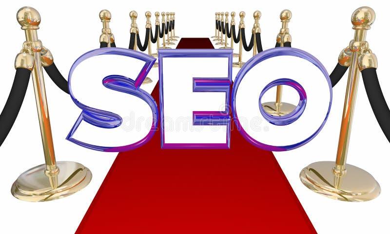 SEO Search Engine Optimization Red-Tapijt stock illustratie