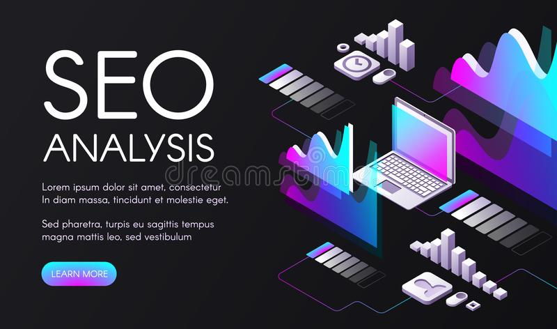 SEO search engine optimization vector illustration royalty free illustration