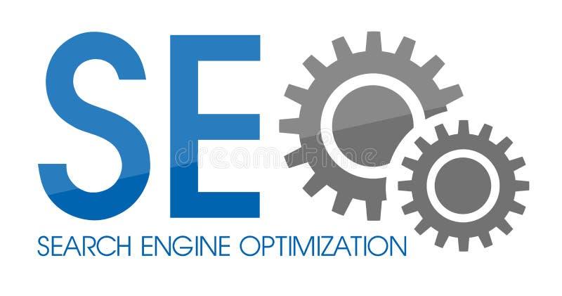 SEO Search Enginge Optimization ilustração stock
