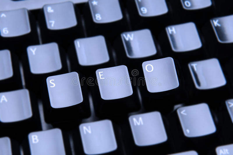 SEO Spelled Out On Keyboard Stock Photos