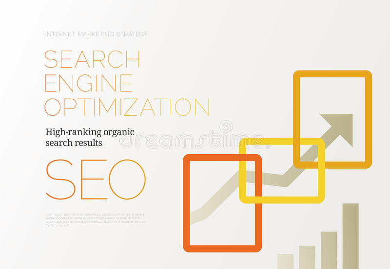 SEO Success Concept illustration stock