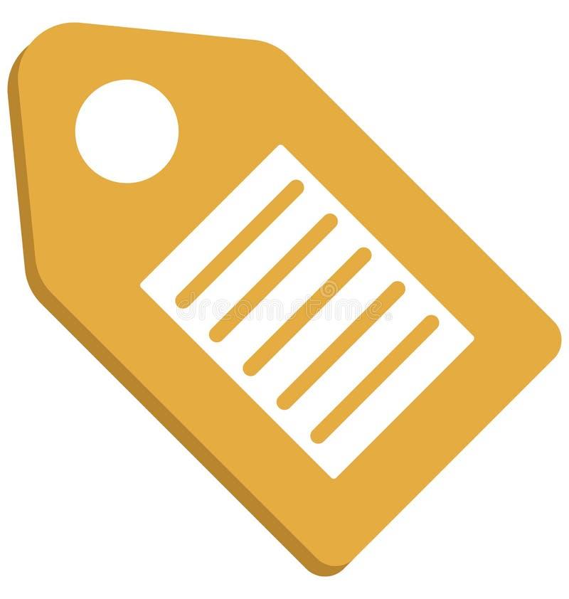 Seo Tag, Seo Keyword Isolated Vector Icon illustrazione di stock