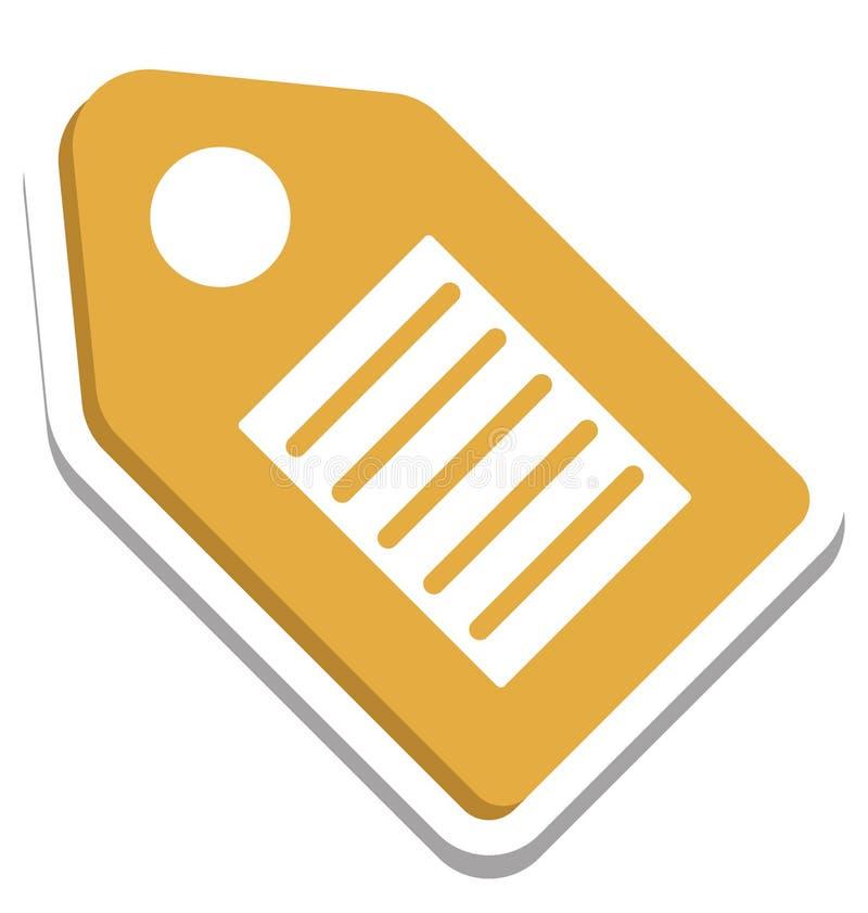 Seo Tag, Seo Keyword Isolated Vector Icon illustrazione vettoriale