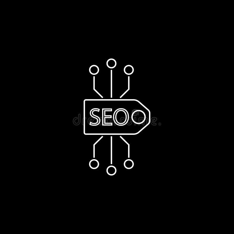 Seo tag line icon vector illustration