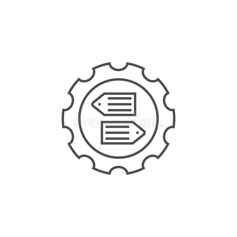 SEO Tag Optimization Line Icon ilustração royalty free