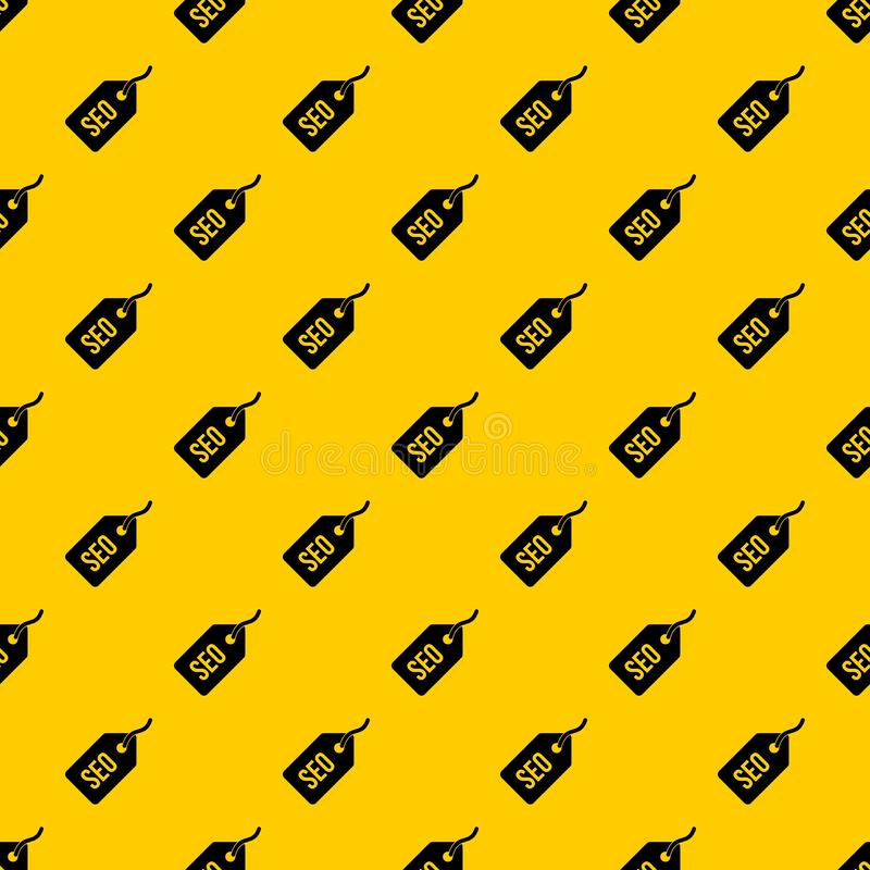 Seo tag pattern vector. Seo tag pattern seamless vector repeat geometric yellow for any design stock illustration
