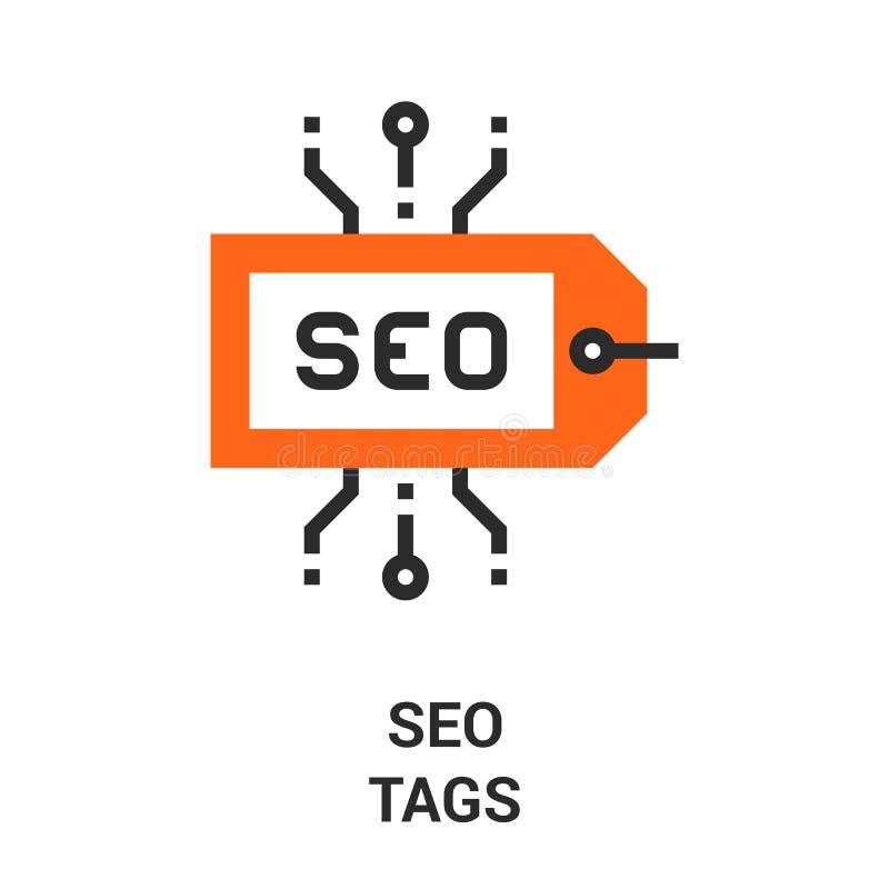 Seo tags icon stock illustration