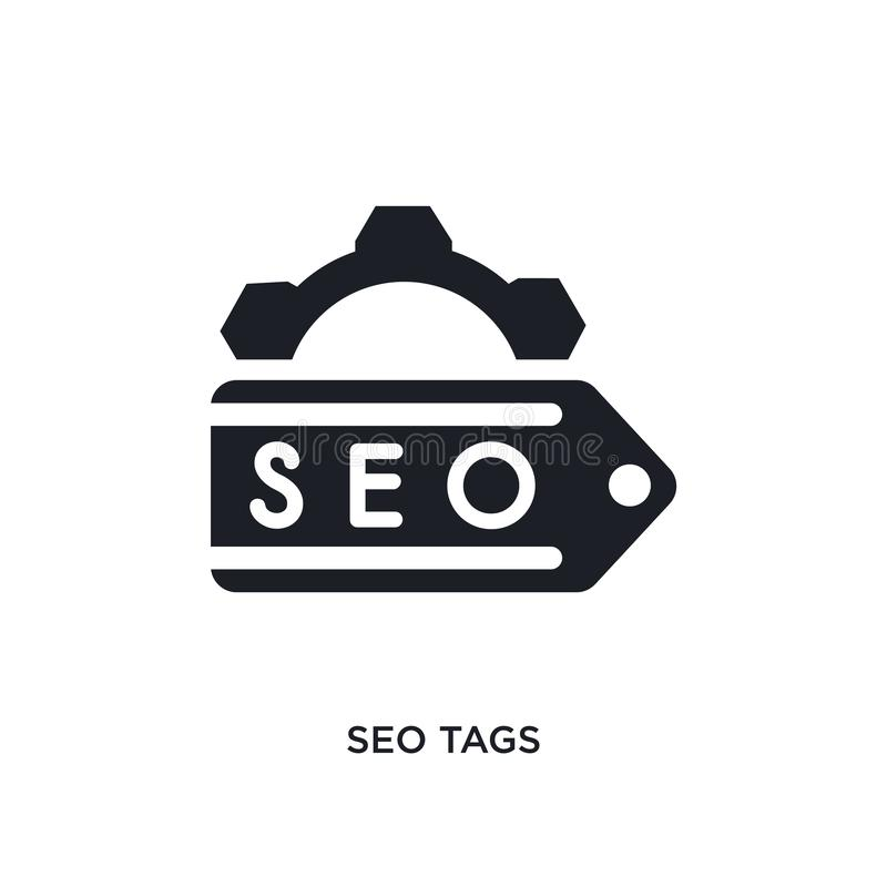 seo tags isolated icon. simple element illustration from programming concept icons. seo tags editable logo sign symbol design on vector illustration