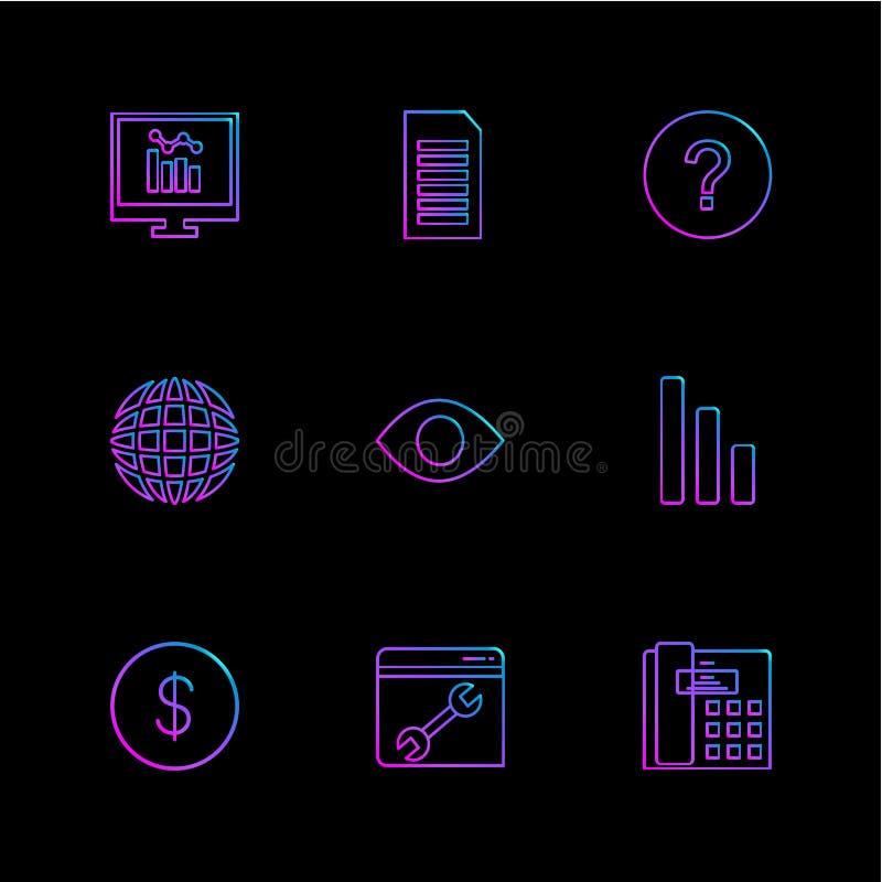 seo, technologia, internet, flaga, komputer, eps ikony ustawia v ilustracji