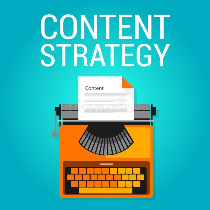 Seo van de inhoudsstrategie marketing de optimalisering van de blogzoekmachine royalty-vrije illustratie