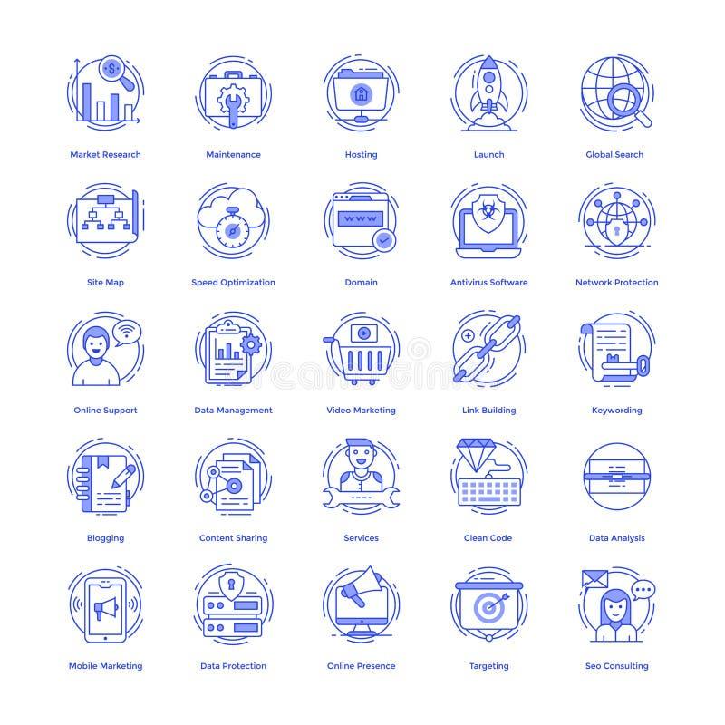 Seo Vector Icons Pack stock de ilustración