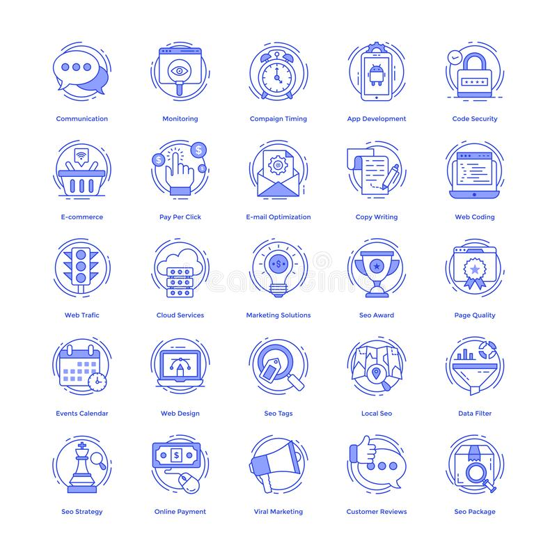 Seo Vector Icons Set vector illustration