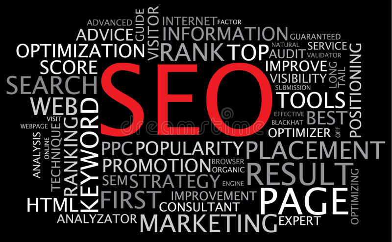 Download SEO - Vector Search Engine Optimization Poster Stock Vector - Image: 13104577