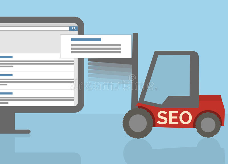 SEO-vorkheftruck vector illustratie