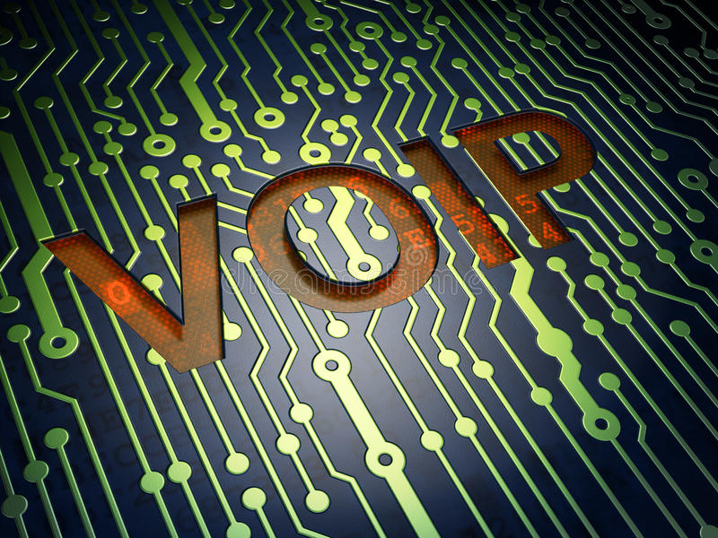 SEO web design concept: VOIP on circuit board royalty free illustration