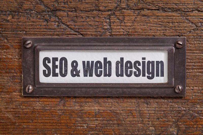 SEO and web design royalty free stock images