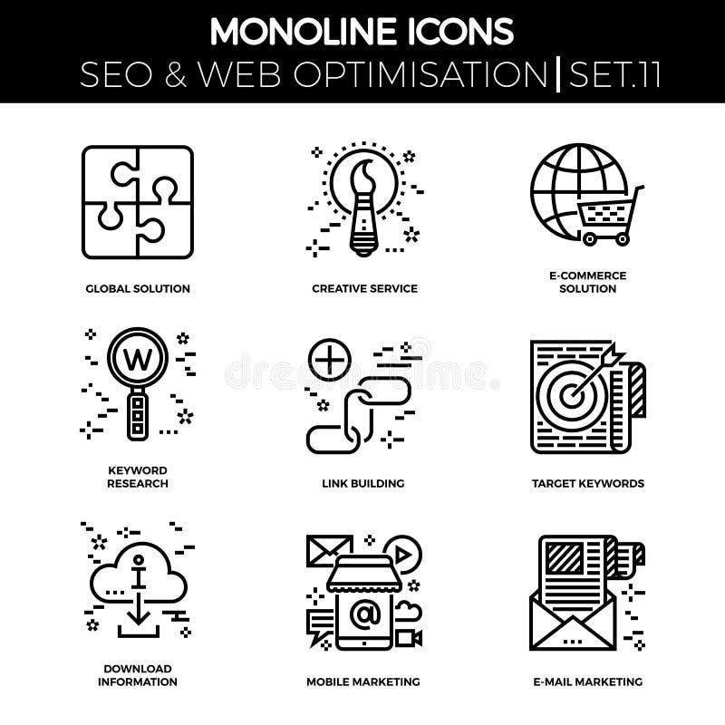 Seo and web opimization stock illustration