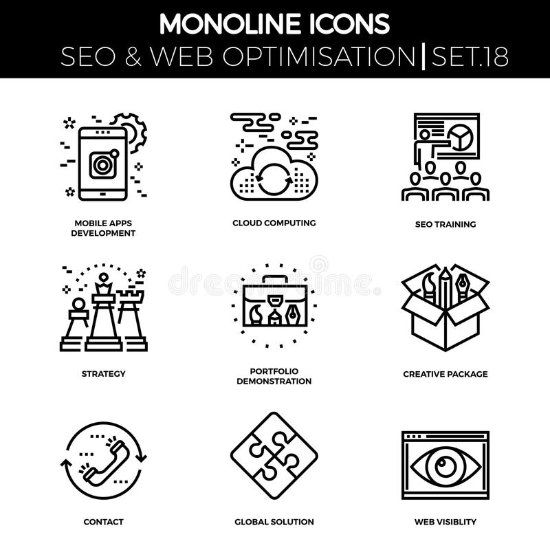 Seo and web opimization royalty free illustration