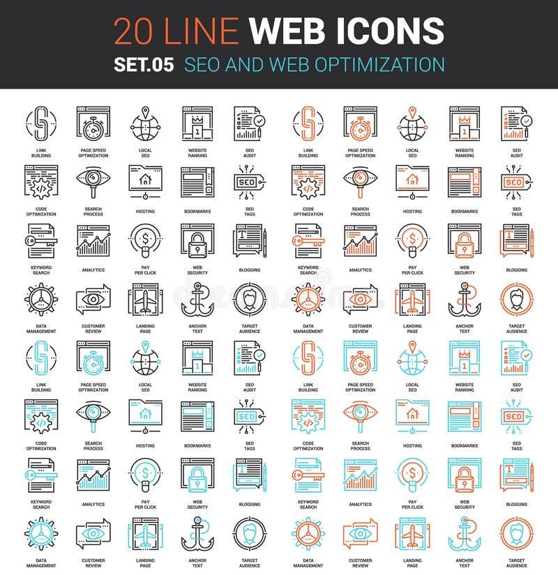 SEO and Web Optimization royalty free illustration