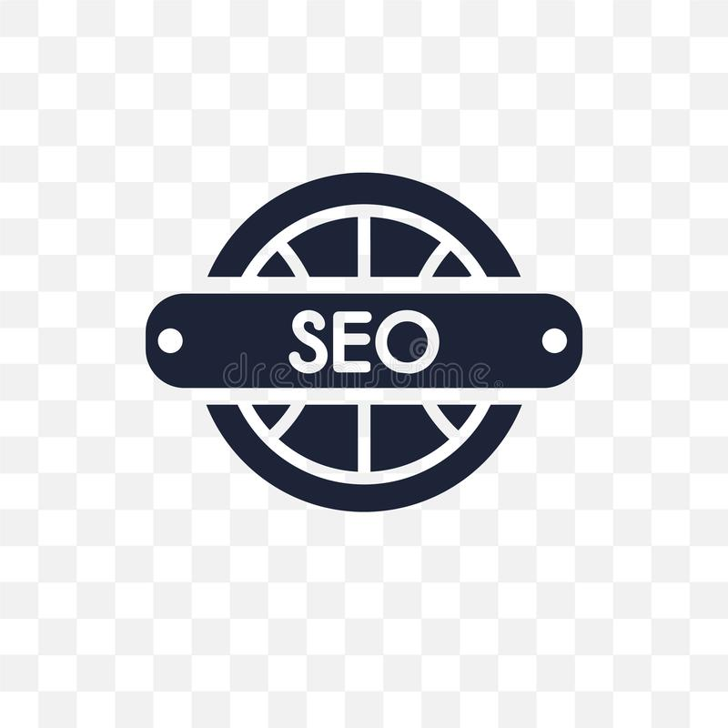 Seo and web transparent icon. Seo and web symbol design from SEO collection. Simple element vector illustration on transparent background vector illustration