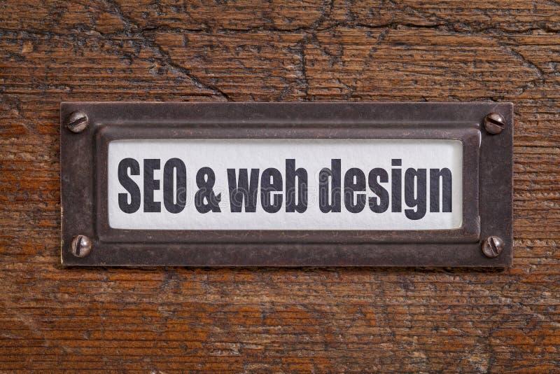 SEO y diseño web imágenes de archivo libres de regalías