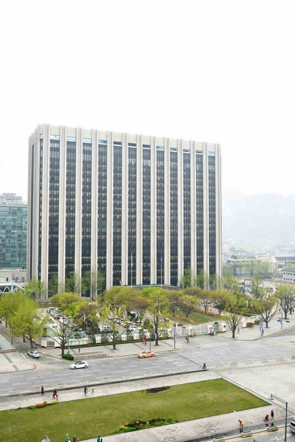 SEOEL, KOREA - April 12, 2014: Ministerie van Veiligheid en Openbare A royalty-vrije stock afbeelding