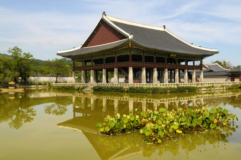 Seoel, Zuid-Korea, de pagode van de paleistempel, de beroemde oude bouw royalty-vrije stock fotografie