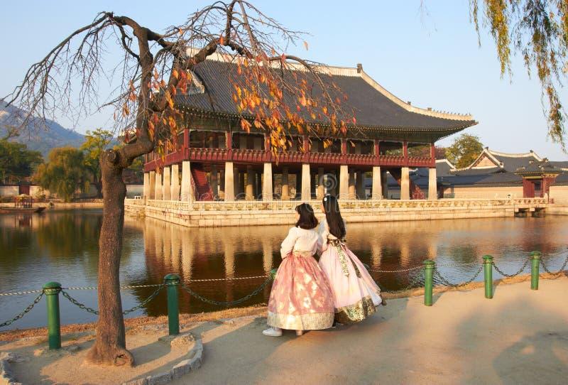 Seoel/Zuid-Korea - Gyeongbokgung-Paleis royalty-vrije stock foto's