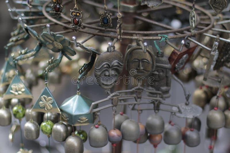 Seoel, Zuid-Korea - 4 Januari 2019: Koreaanse traditionele ornamenten van antieke winkel, Insadong, Seoel, Zuid-Korea royalty-vrije stock foto