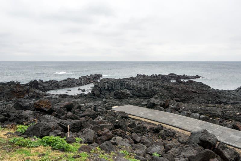 Seopjikoji scenic ocean view stock photography