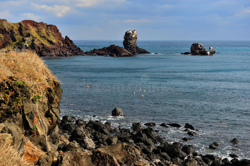 Seopjikopji海岸 图库摄影