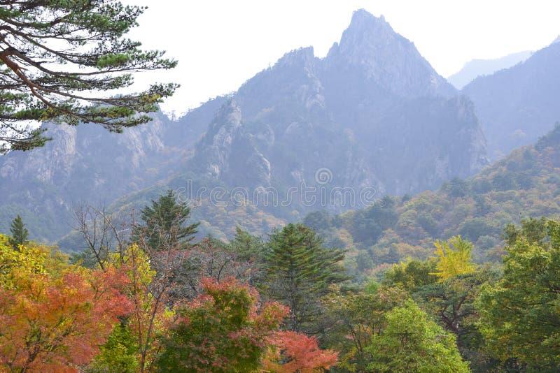 Seoraksan en otoño fotografía de archivo
