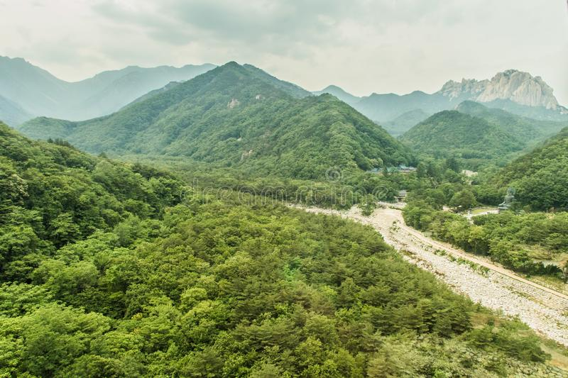 Seoraksan is one of the best known national parks in South Korea royalty free stock photography