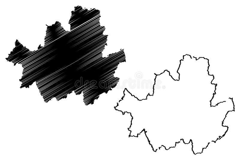 Seoul översiktsvektor stock illustrationer