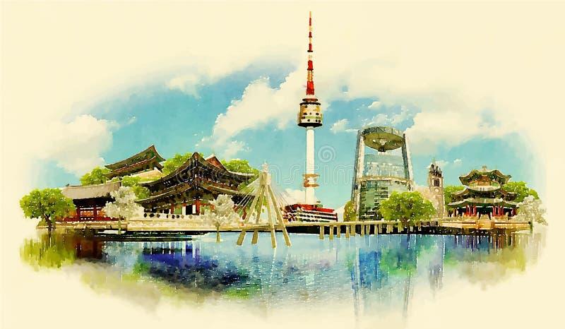 Seoul royalty illustrazione gratis