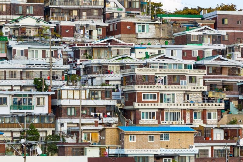 Seoul bostadsområde royaltyfri bild