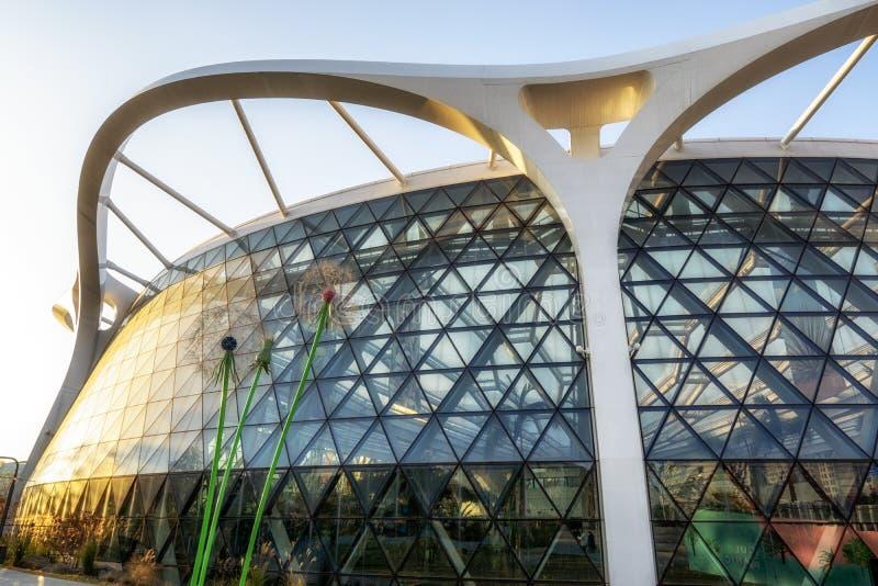 Seoul botanic park green house and dandelion royalty free stock images